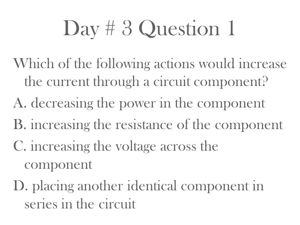 Day # 3 Question 1