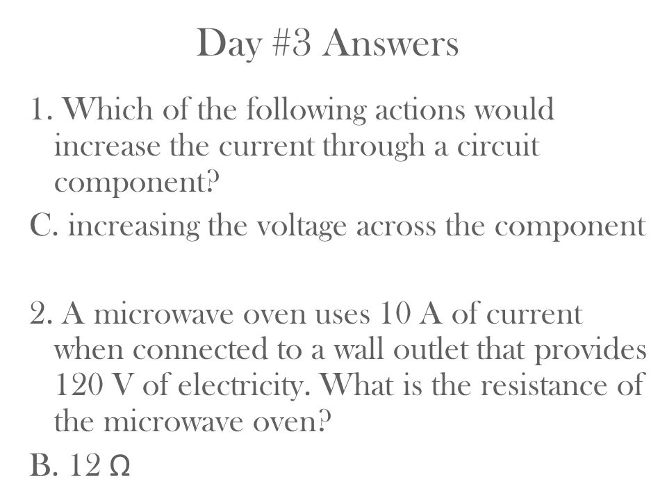 Day #3 Answers
