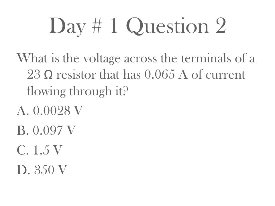 Day # 1 Question 2