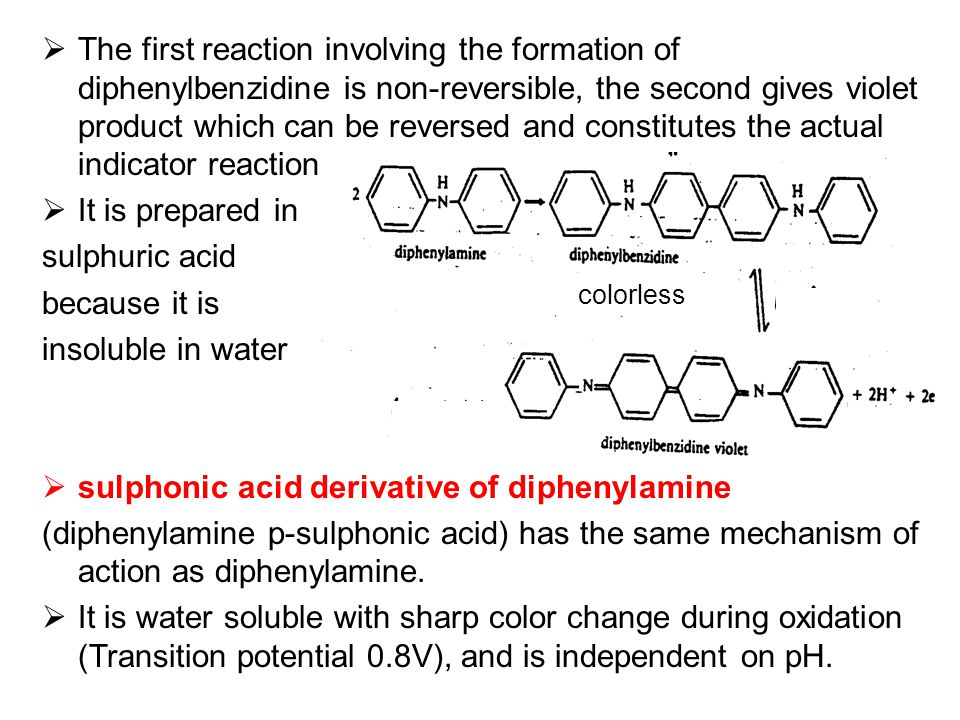 sulphonic acid derivative of diphenylamine