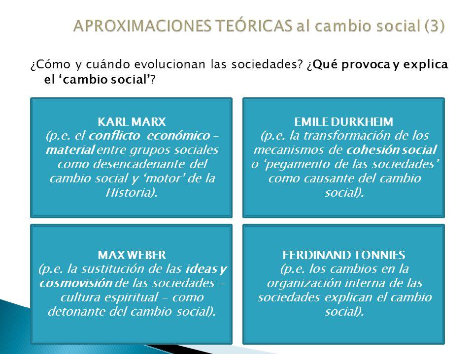 APROXIMACIONES TEÓRICAS al cambio social (3)