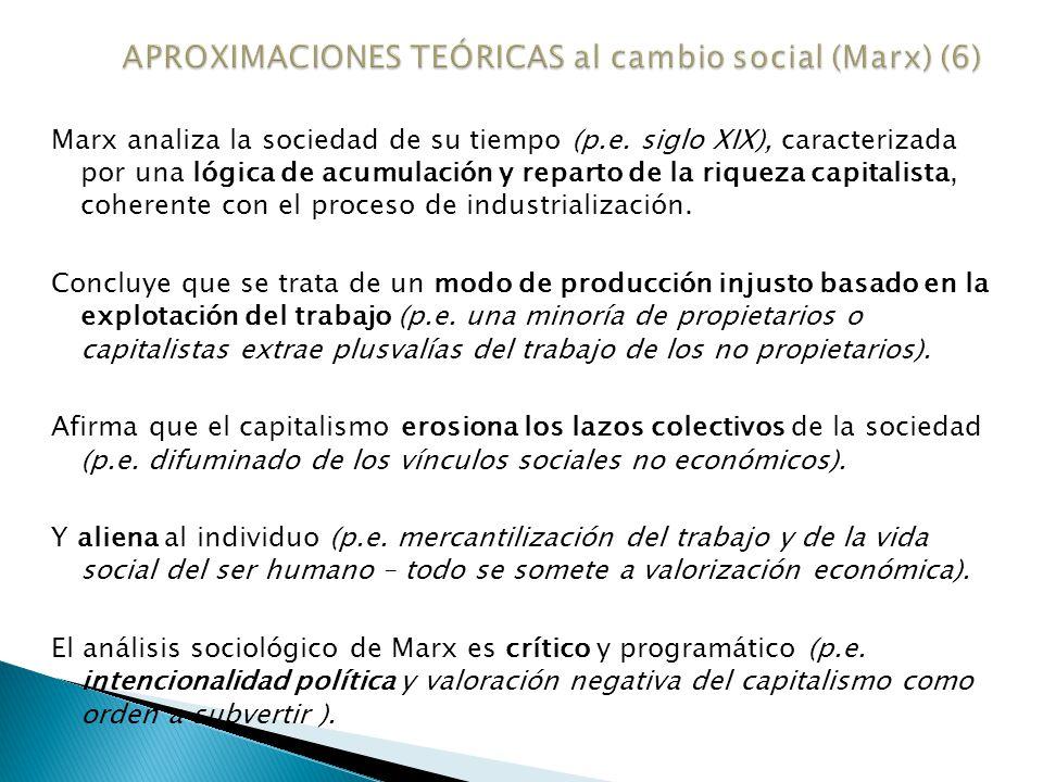 APROXIMACIONES TEÓRICAS al cambio social (Marx) (6)