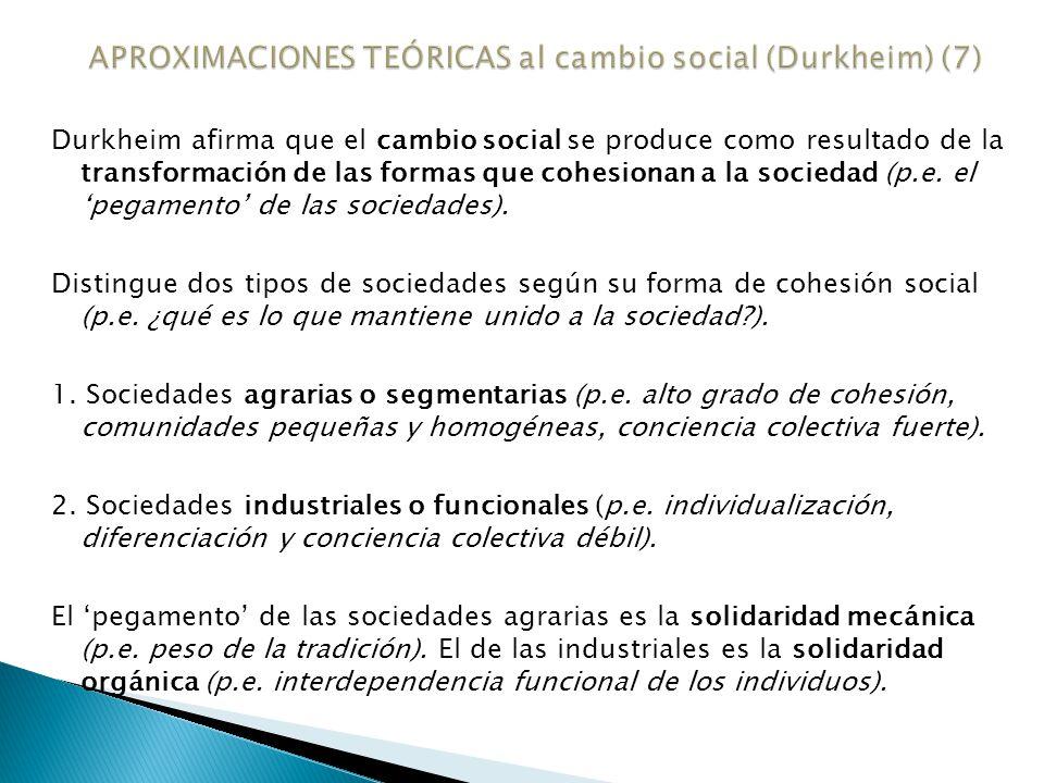 APROXIMACIONES TEÓRICAS al cambio social (Durkheim) (7)