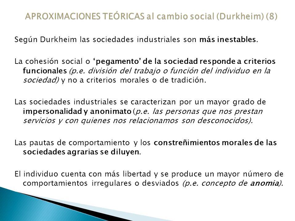 APROXIMACIONES TEÓRICAS al cambio social (Durkheim) (8)