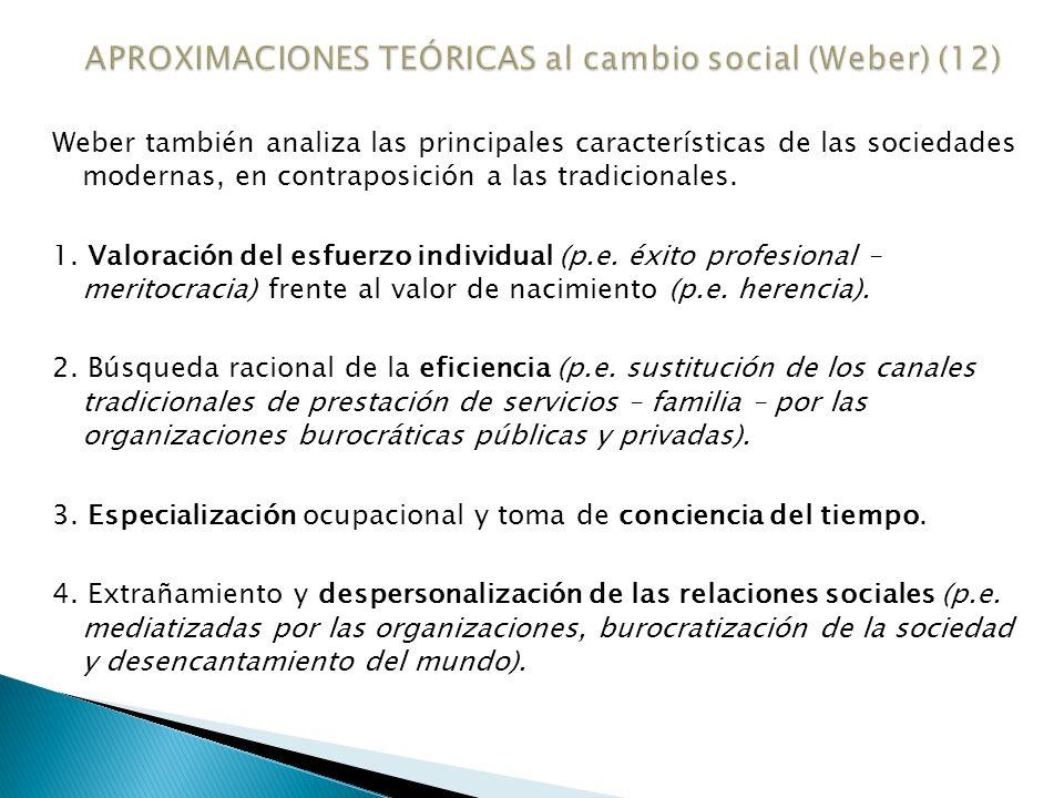 APROXIMACIONES TEÓRICAS al cambio social (Weber) (12)