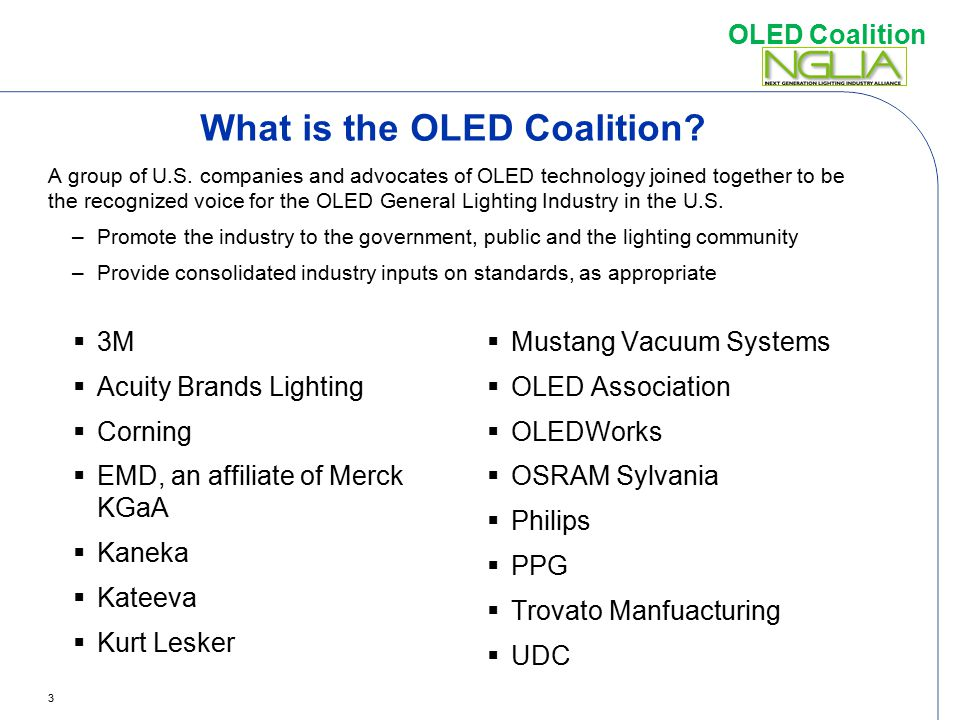 What is the OLED Coalition