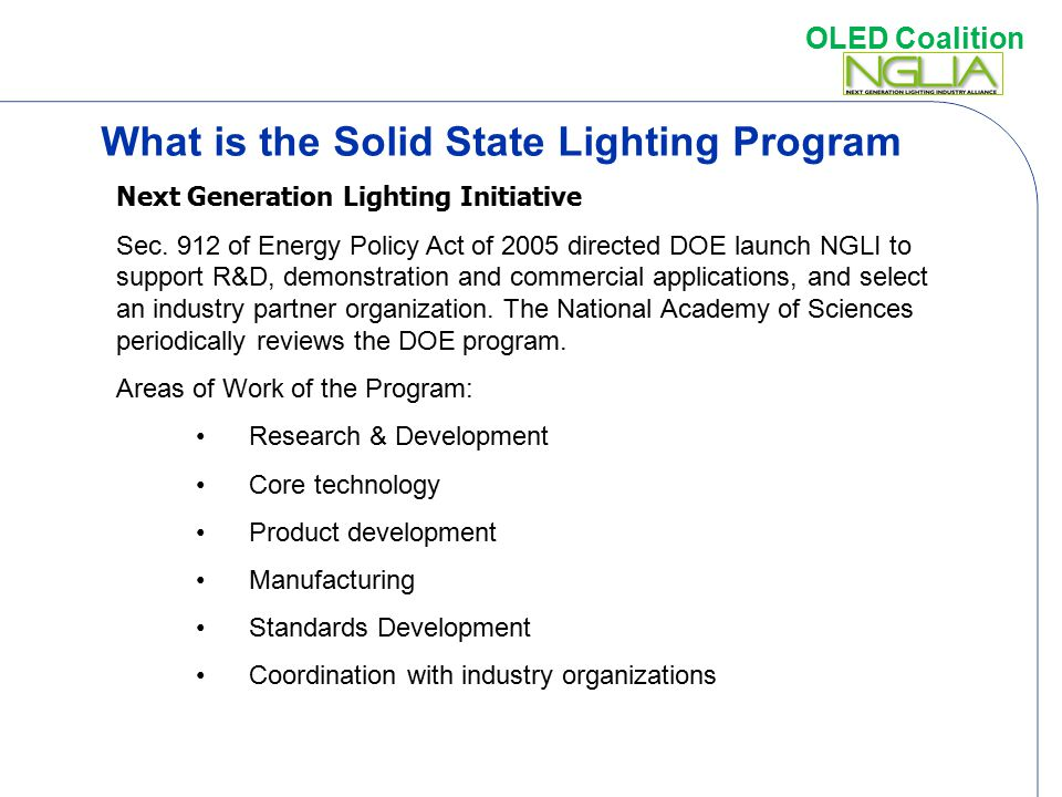 What is the Solid State Lighting Program