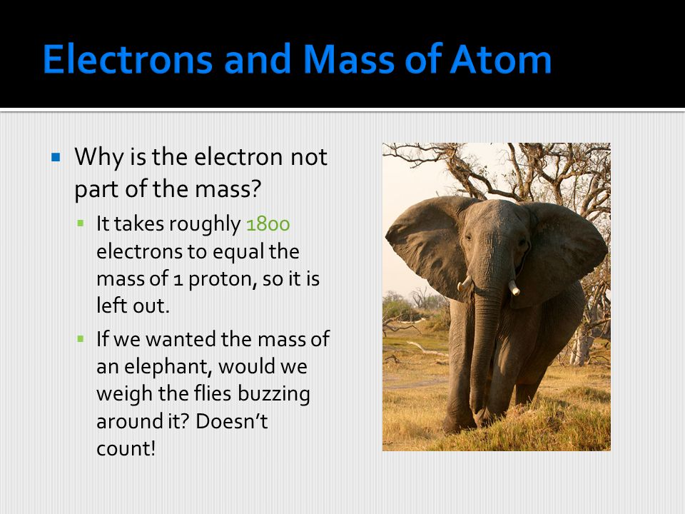 Electrons and Mass of Atom