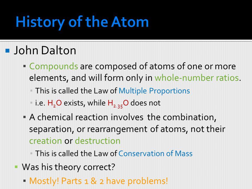 History of the Atom John Dalton
