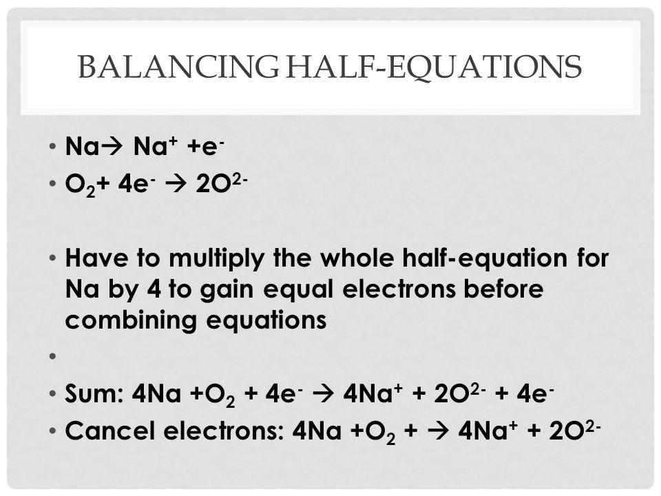 Balancing Half-equations