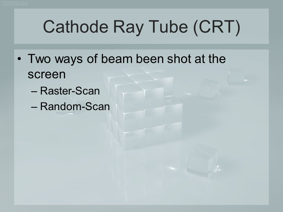 Cathode Ray Tube (CRT) Two ways of beam been shot at the screen