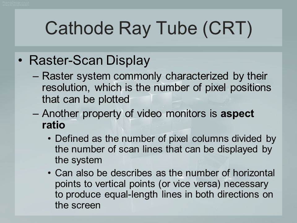Cathode Ray Tube (CRT) Raster-Scan Display