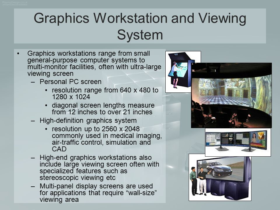 Graphics Workstation and Viewing System