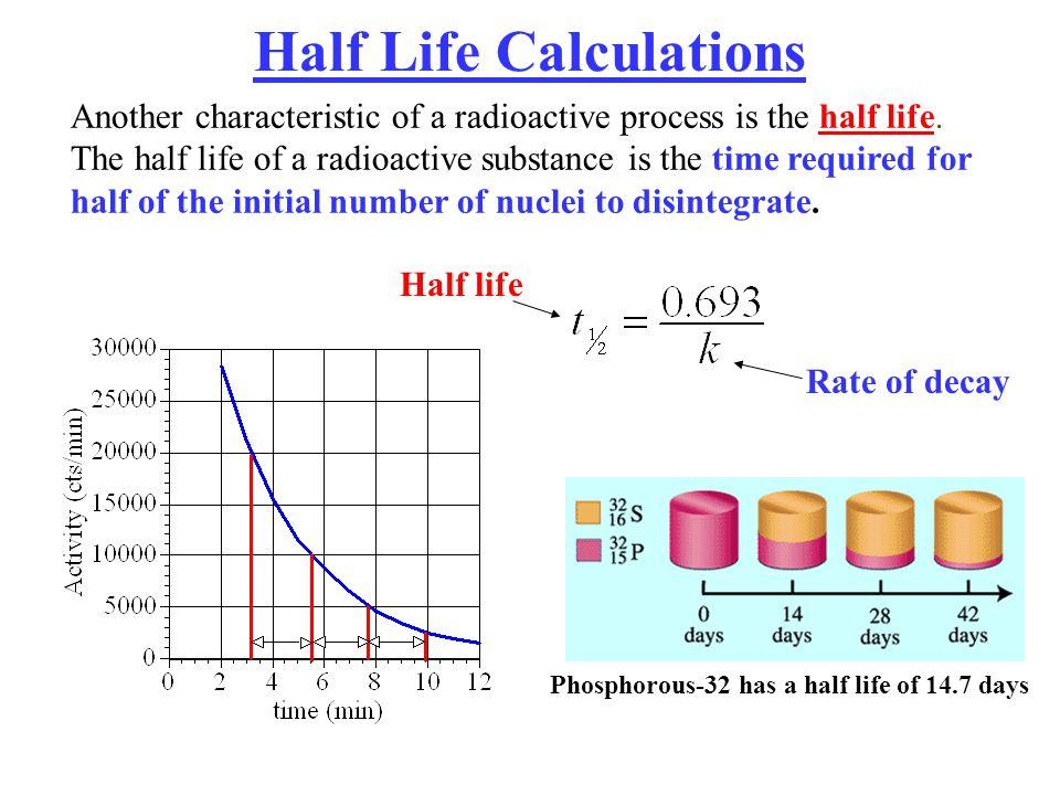 Half Life Calculations
