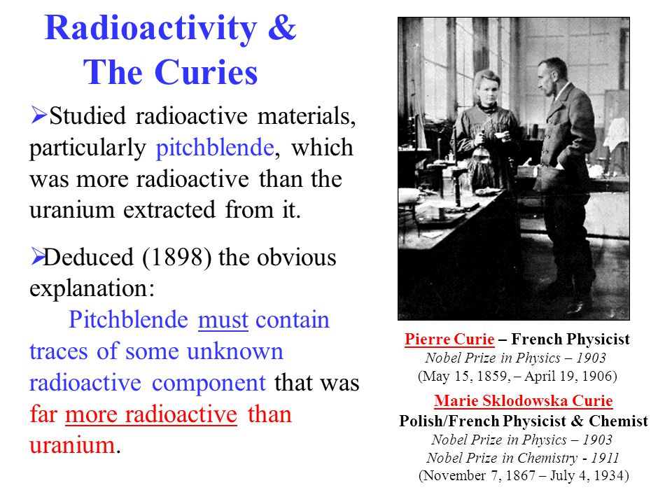 Radioactivity & The Curies