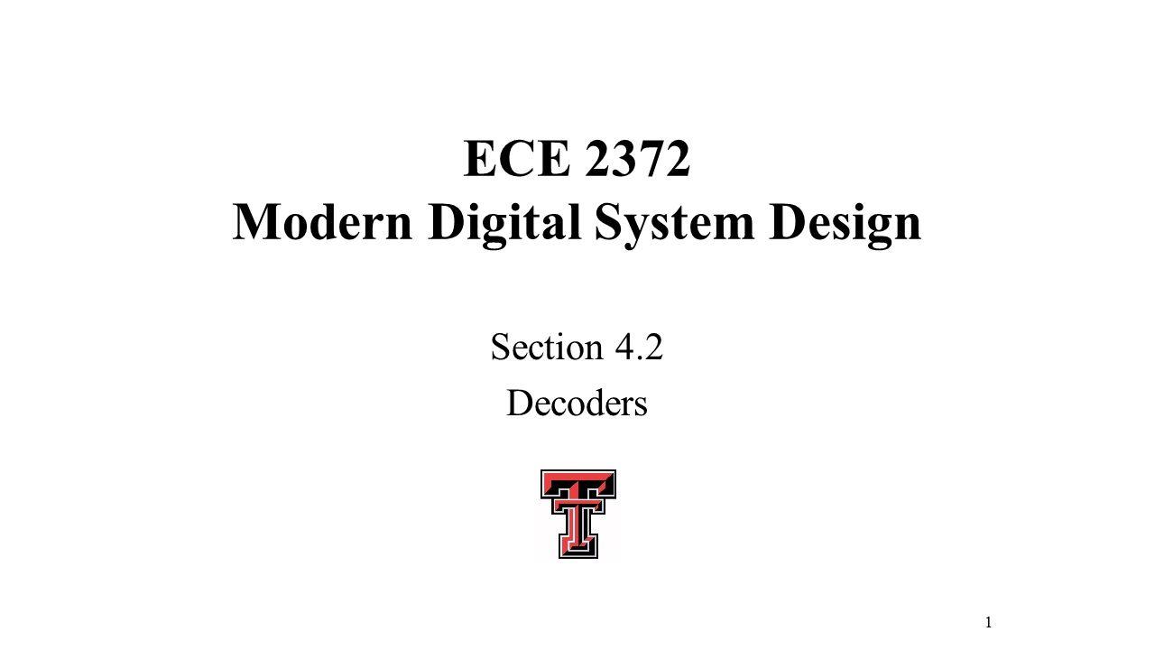 ece 2372 modern digital system design