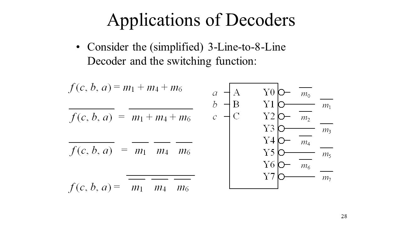 Applications of Decoders