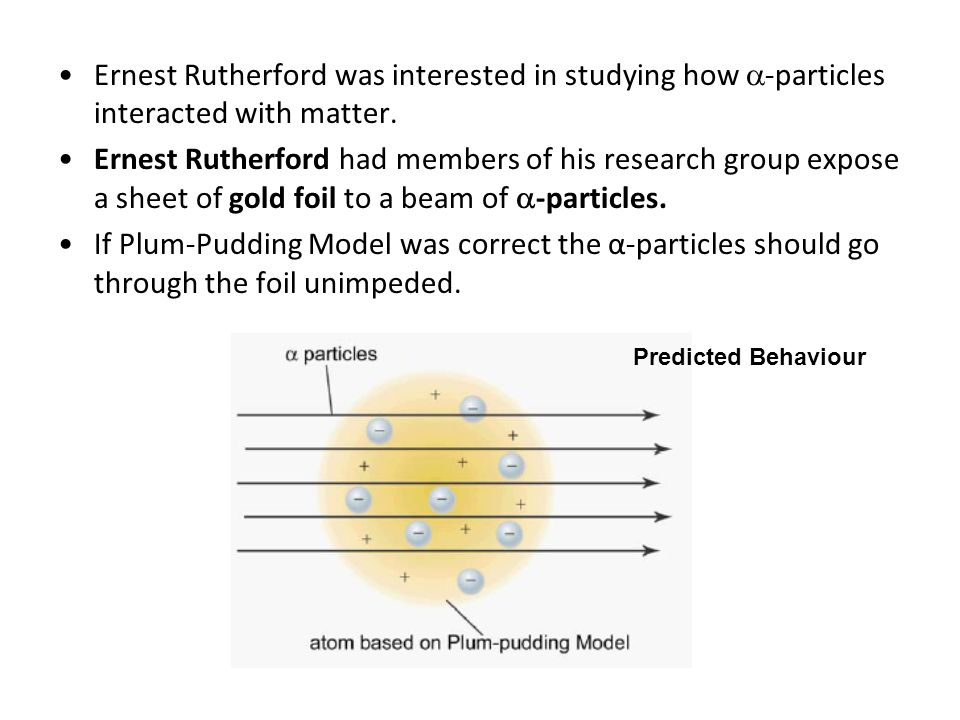 Ernest Rutherford was interested in studying how -particles interacted with matter.