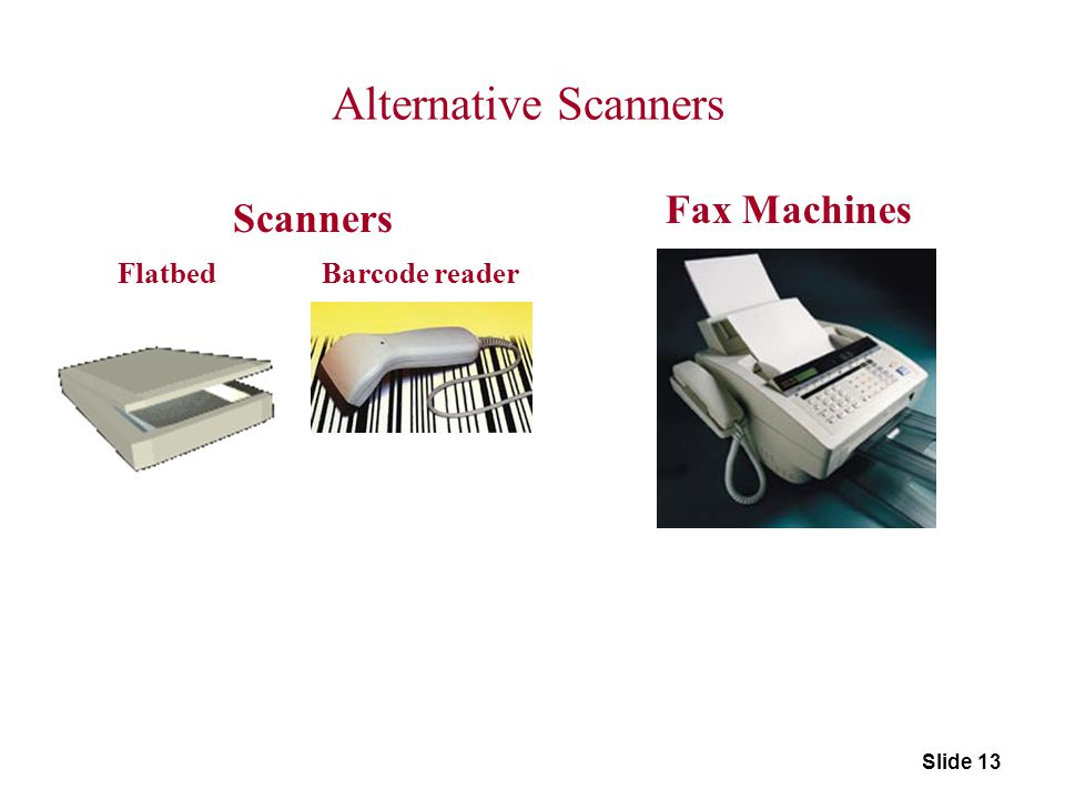 Alternative Scanners Fax Machines Scanners Flatbed Barcode reader