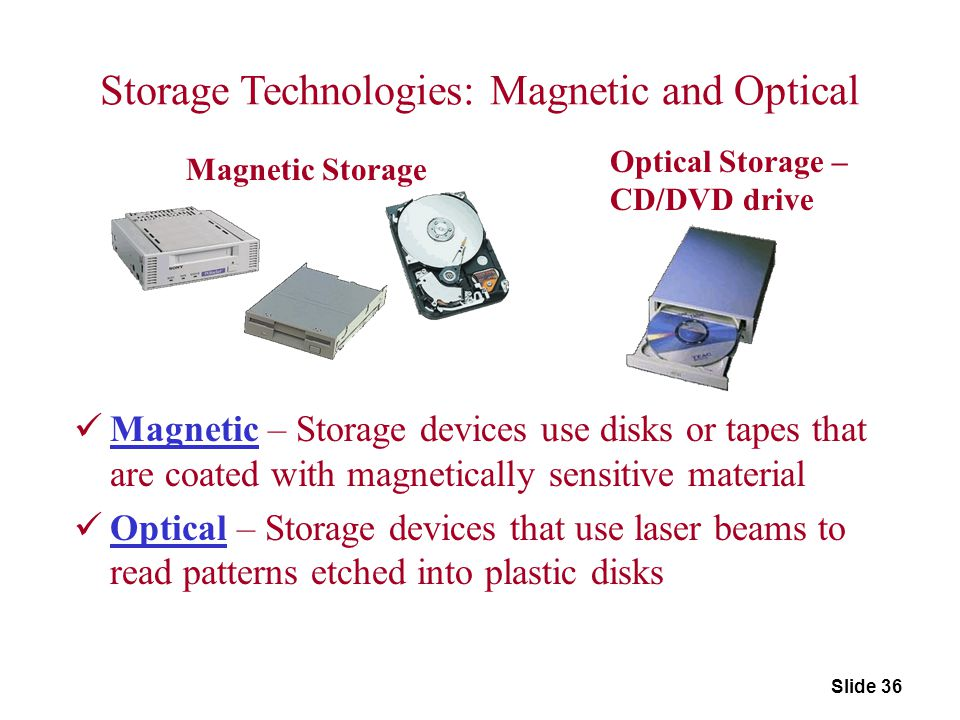 Storage Technologies: Magnetic and Optical