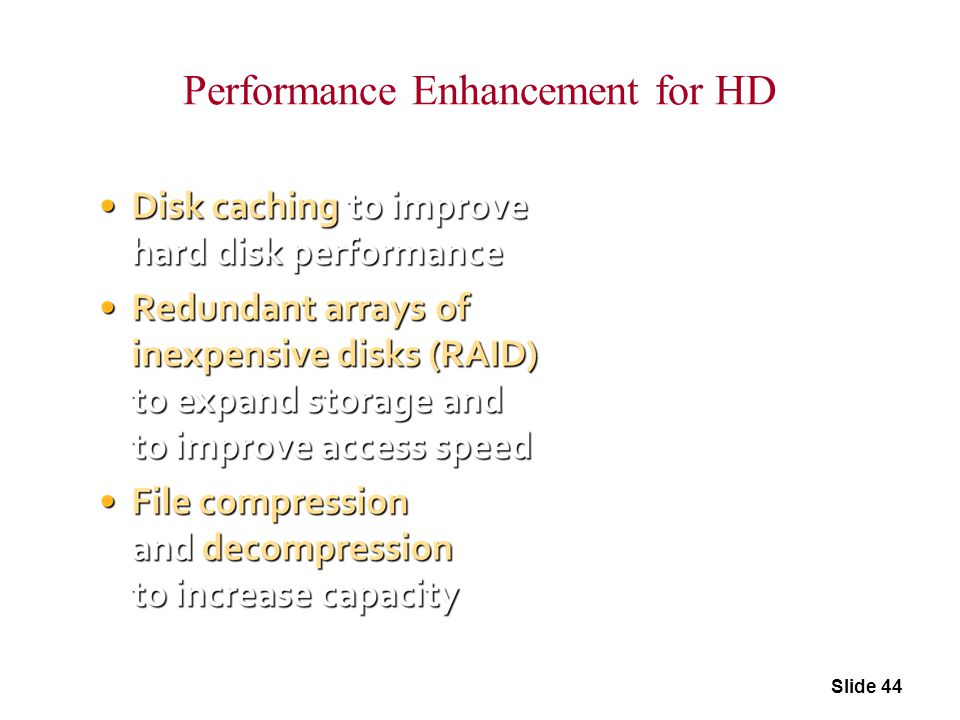 Performance Enhancement for HD
