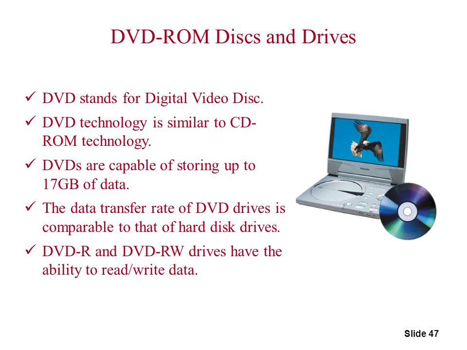 DVD-ROM Discs and Drives
