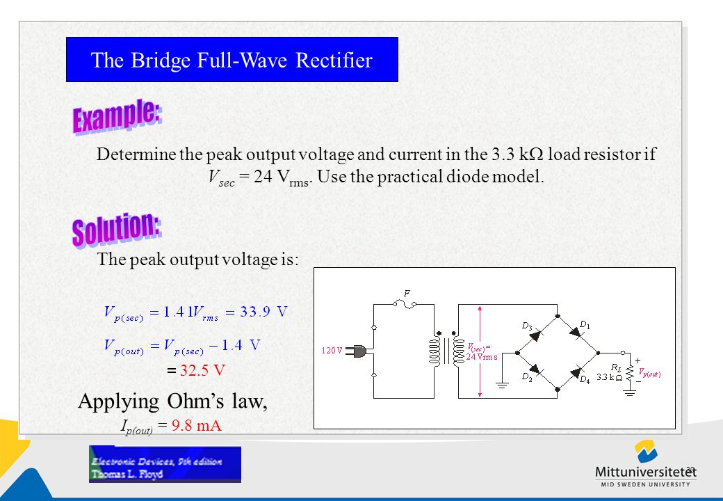 The Bridge Full-Wave Rectifier