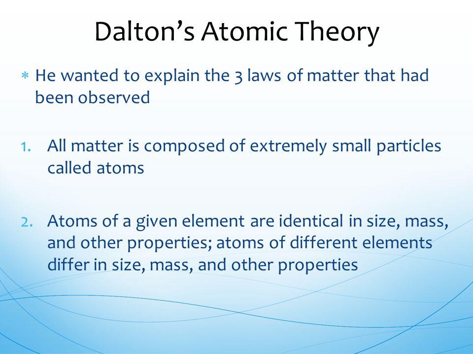 Dalton's Atomic Theory
