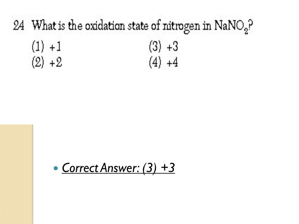 Correct Answer: (3) +3