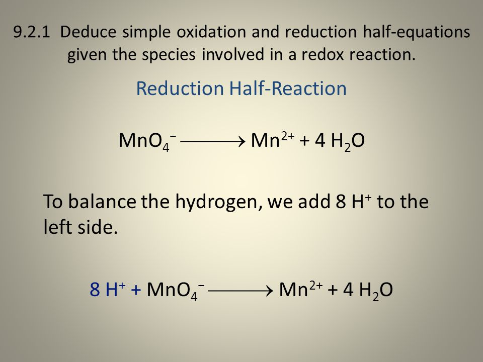 Reduction Half-Reaction