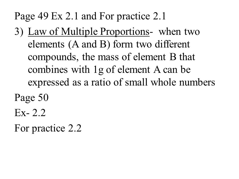 Page 49 Ex 2.1 and For practice 2.1