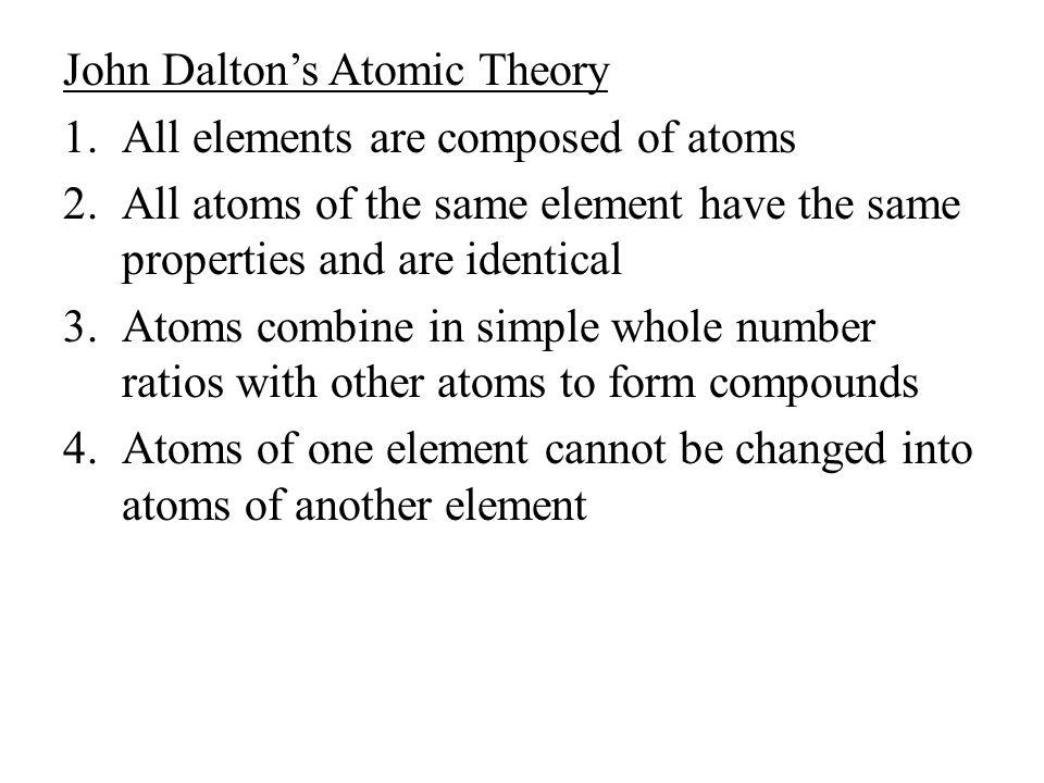 John Dalton's Atomic Theory