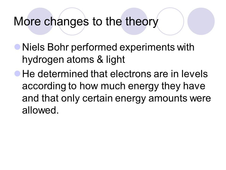 More changes to the theory