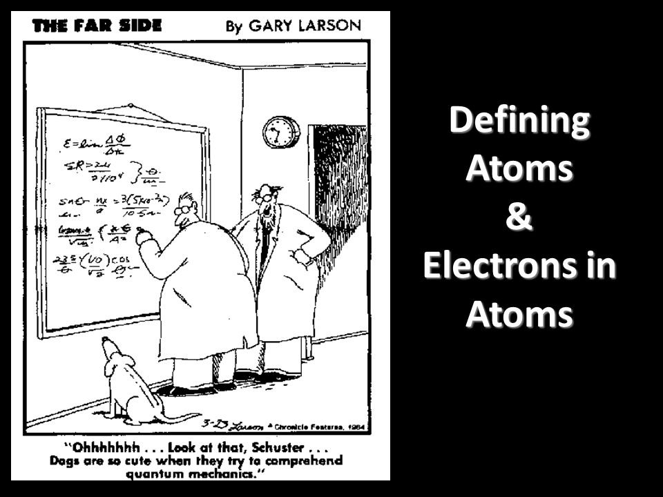 Defining Atoms & Electrons in Atoms