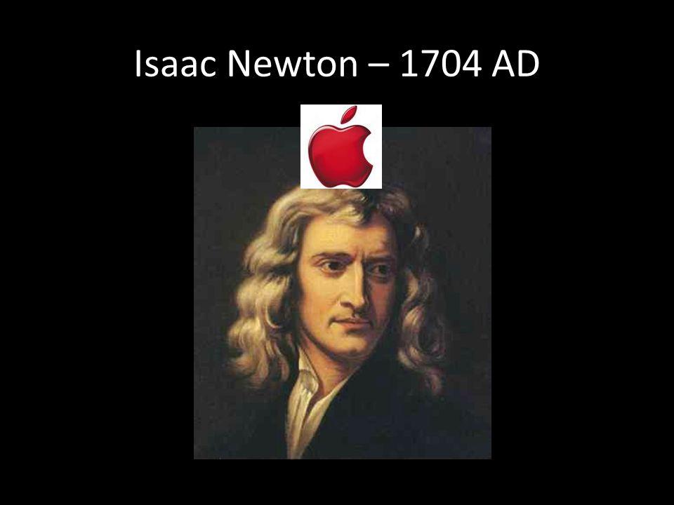 Isaac Newton – 1704 AD