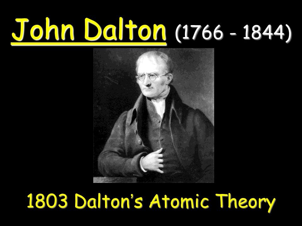 1803 Dalton's Atomic Theory