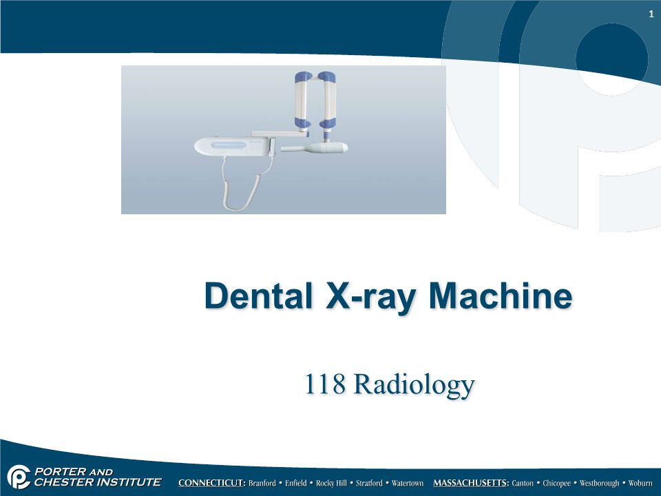 Dental X-ray Machine 118 Radiology