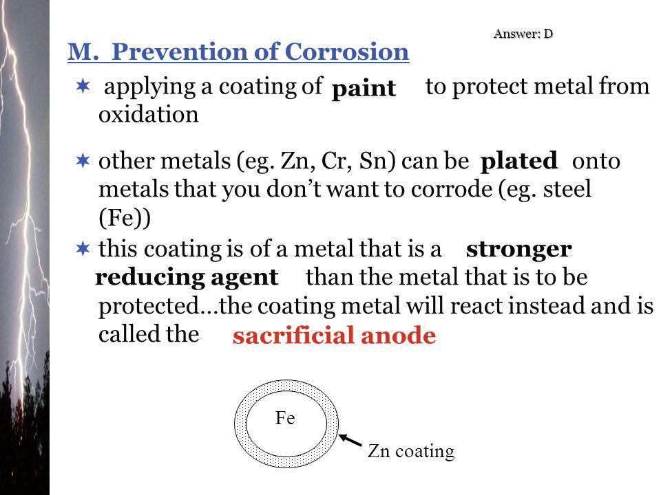M. Prevention of Corrosion