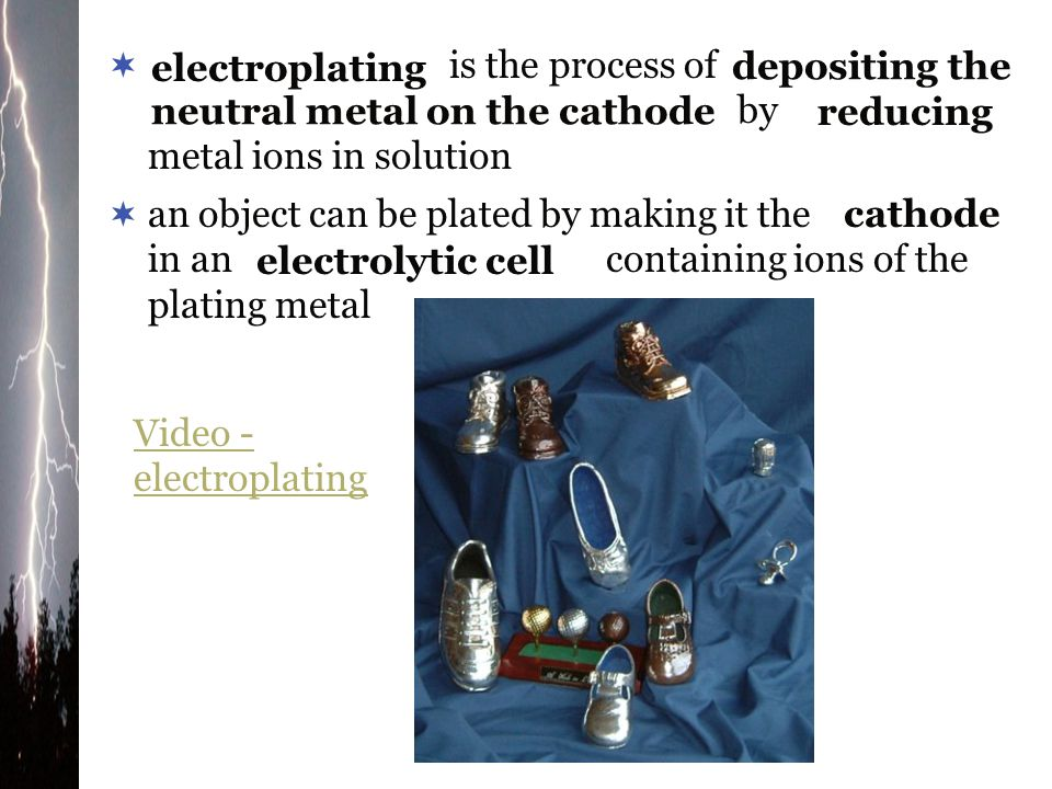 is the process of by metal ions in solution