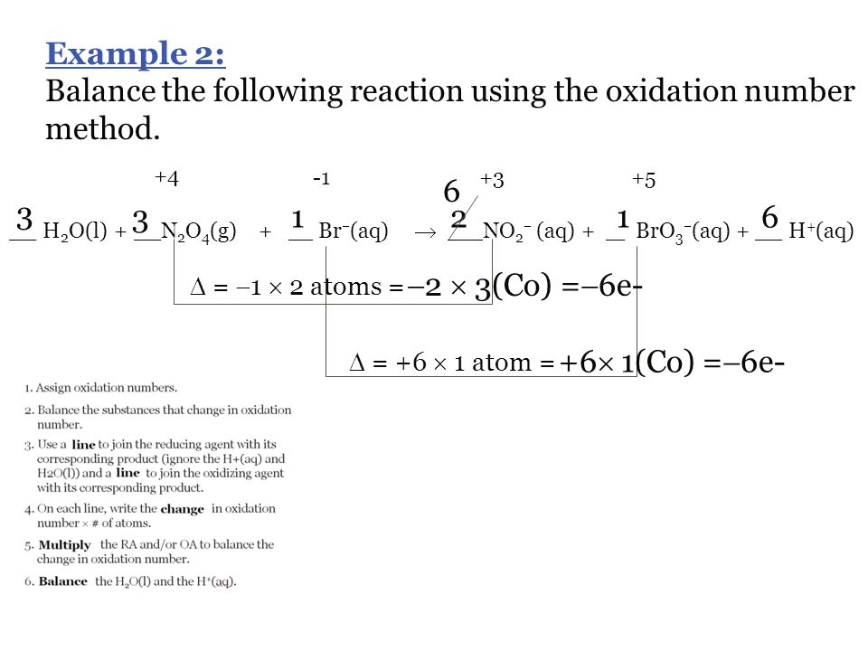 Balance the following reaction using the oxidation number method.