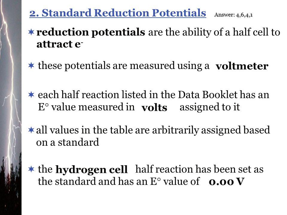 2. Standard Reduction Potentials