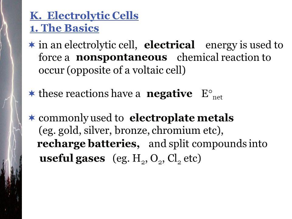 K. Electrolytic Cells 1. The Basics.