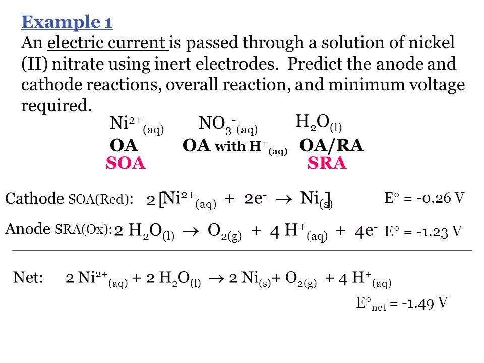 2 H2O(l)  O2(g) + 4 H+(aq) + 4e-