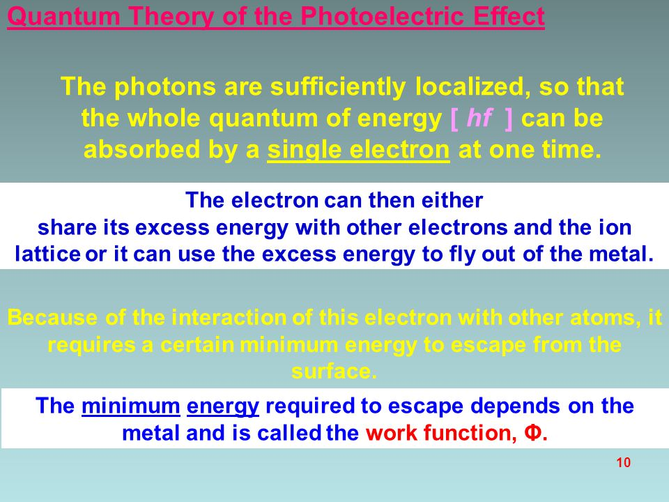 The electron can then either