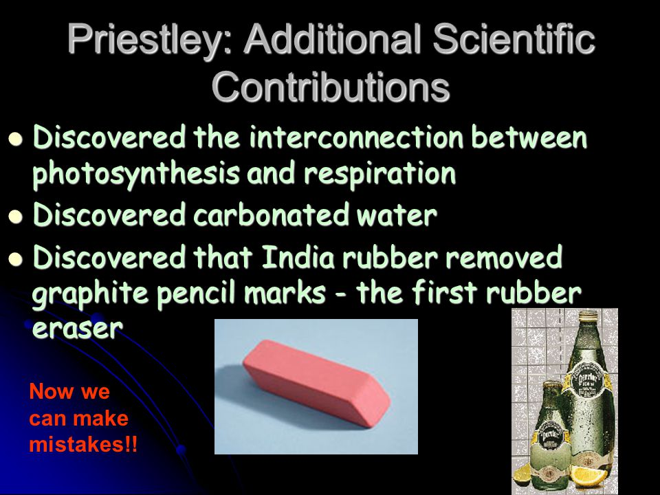 Priestley: Additional Scientific Contributions