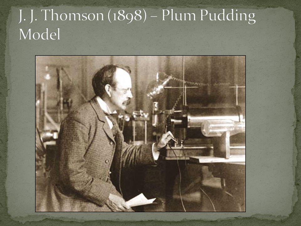 J. J. Thomson (1898) – Plum Pudding Model