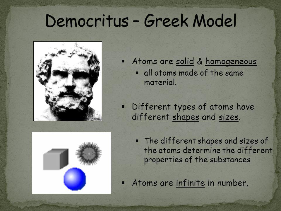 Democritus – Greek Model