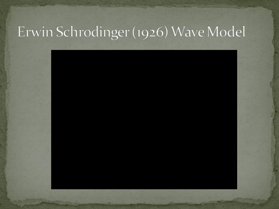 Erwin Schrodinger (1926) Wave Model
