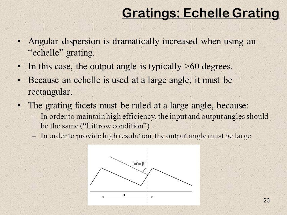 Gratings: Echelle Grating