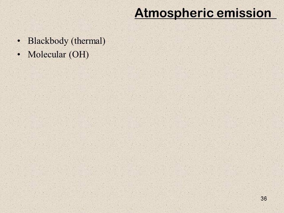 Atmospheric emission Blackbody (thermal) Molecular (OH)